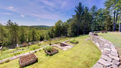 Foley Road raised bed veggie gardens on hillside
