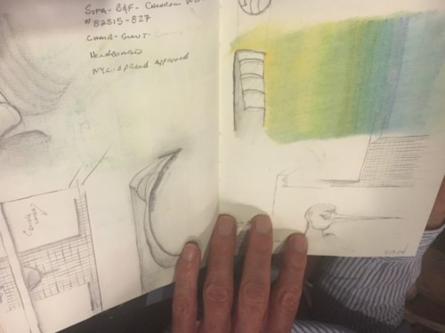 sketchbook images for interior design process